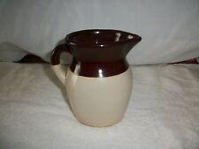 Antique Crock Creamer Pitcher 16 oz  Brown/Tan