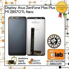 TOUCH SCREEN VETRO + LCD DISPLAY PER ASUS ZENFONE MAX PLUS M1 ZB570TL X018D NERO