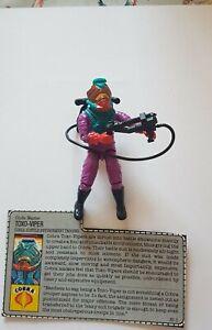 ACTION FORCE GI JOE Vintage Toxo-Viper Figure Complete Hasbro 1988