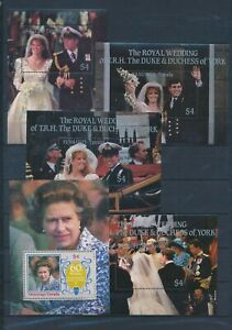 XC58074 Tuvalu royal wedding sheets MNH