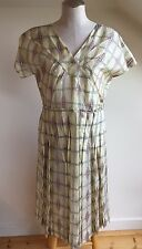 Marni Silk Blend Embroidered Pleated Dress, Art to Wear, Rare, Size 42 (6US)