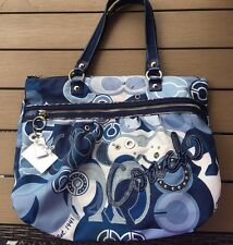 NICE Coach Poppy Blue Denim Purse
