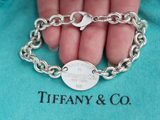 Tiffany & Co Return To Tiffany Sterling Silver Oval Tag Bracelet 7.5 Inch