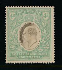 EAST AFRICA + UGANDA PROTECTORATE 1903 KE7th 4R ERROR SHIFT ALMOST NO WMK SG12