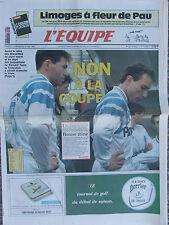 L'Equipe du 9-10/5/1992 - Foot : non à la Coupe - Limoges -