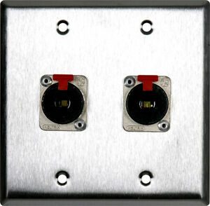2 gang wall plate loaded / 2 female 5 pin midi panel mounts to 2 male tails 25ft