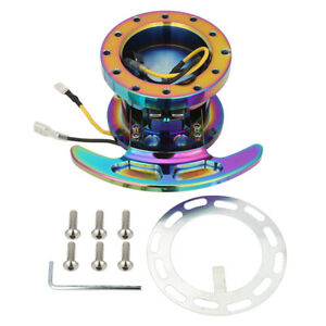 Works Bell Rapfix Flip Up Racing Steering Wheel Quick Release Hub Kit Neo Chrome
