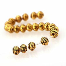 100/500Pcs Tibetan Silver Gold Bronze Round Barrel Lantern Spacer Beads 5MM