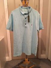 Mens All Saints Reform Short Sleeve Polo Shirt. Blue Marl. Large