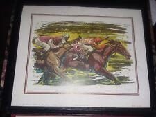 1981 ARTHUR A. KAPLAN HORSE RACING 8X10 LITHOGRAPH