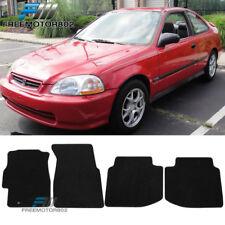 For 96-00 Honda Civic Black Nylon Floor Mats Front Rear Non-Slip Carpets 4PC