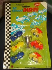 LOT    6 Vintage Race Cars  MOTORCYLES & Trophy  Made In Hong Kong