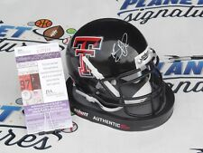Nic Shimonek signed Texas Tech TTU Red Raiders mini helmet JSA COA