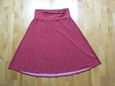 Lularoe Azure Skirt Knee Length Womens Extra Large Red Floral XL Comfy Summer