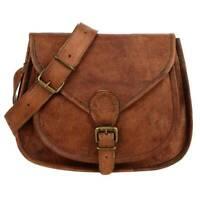Women Vintage Brown Leather Wallet Messenger Cross Body Bag Handmade Hobo Purse