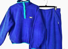 RARE Vtg 80's LL Bean Snap T Fleece Jacket & Matching Pants w/Pockets Sz M
