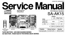NATIONAL SA-AK15 CD STEREO SYSTEM SERVICE MANUAL INC SCHEM DIAGS BOOK IN ENGLISH