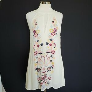 O'Neill Sleeveless Sundress Ivory Floral Print Embroidery Size Small New NWT