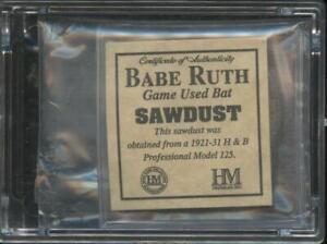 Babe Ruth Highland Mint Game Used Bat Sawdust Limited Edition Yankees HOF MLB JE