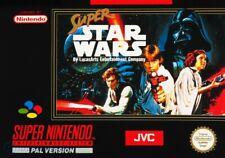 Nintendo SNES juego-Super Star Wars con embalaje original