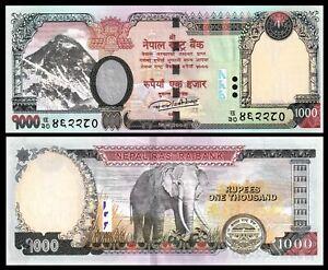 Nepal 1000 1,000 Rupees, ND(2012), P-68b, UNC / * Elephant **