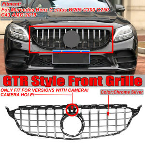 GT R AMG Style Front Grille Grill For Mercedes Benz C Class W205 C300 C43 2019+