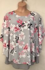 Ladies Floaty Double Layered Floral Top ** BNWT ** Ex Evans ** Plus Size 26