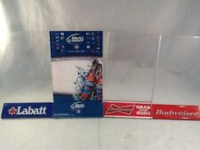 Budweiser, Labatt Table Tent Menu Holders 3 Clear Acrylic, 1 Solid NFL, Lot of 4