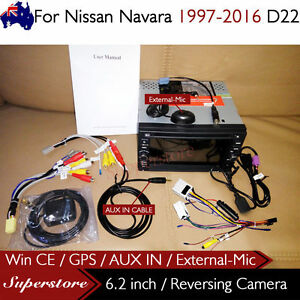 "6.2"" CAR DVD GPS Player Head Unit Stereo Navi For Nissan Navara 1997-2016 D22"