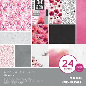 Magenta 6.5x6.5 Paper Pad by Kaisercraft Spring floral Mother