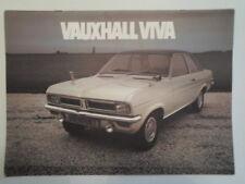VAUXHALL VIVA RANGE orig 1971 UK Mkt Sales Brochure