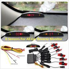 LED Display Monitor 8PC 16mm Original Hidden Invisible Car Flat Parking Sensor