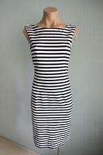 Max Mara Sleeveless Round Neck Black & White Striped Dress sz Ital 40 / Aust 8
