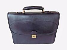 Men's Real Leather Briefcase Business Bag Messenger Bag Black Shoulder Strap