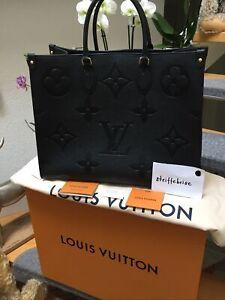 Louis Vuitton Tasche OnTheGo GM Leder schwarz M44925, Neu