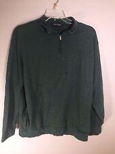 Polo Golf Ralph Lauren Green 1/2 Zip Men's Pima Cotton Pullover Sweater Size XL