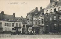 VERY EARLY 1900's VINTAGE POSTCARD - GRAND PLACE, HAZEBROUCK, E. Le Deley PC