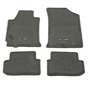 2009-2012 Nissan Altima Coupe Charcoal Carpeted Floor Mats Front & Rear OEM NEW