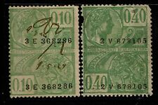 Belgium 2 Revenues, Used, one on left has center thin, see notes - S5072