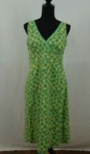 BODEN Green Atomic Burst Retro Cotton Summer Dress 14R Sleeveless