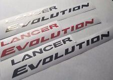 Lancer Evolution decal sticker evo 8 9  mitsubishi black chrome or red or black