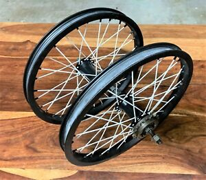 Take Offs from 2018 SE Bikes Li'l Quad BMX Old School 16 inch Wheel Set - Black
