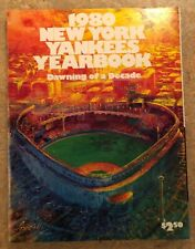 1980 NEW YORK YANKEES YEARBOOK (GREAT YANKEE RIVALRIES FEATURE W/ FOLDOUT POSTER