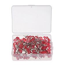 100pcs Red Diamante Diamond Head Pins for Bouquets Wedding Flowers Floristry