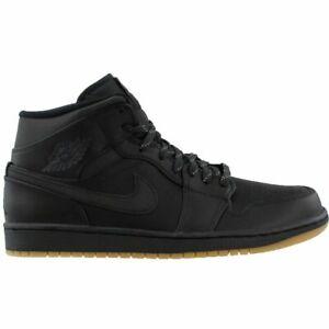 Nike Air Jordan 1 MID Winterized Black Anthracite Basketball Trainers AA3992 002