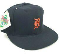 Vintage Detroit Tigers New Era Pro Model 6 3/4 Fitted Hat Cap Blue Orange D Logo