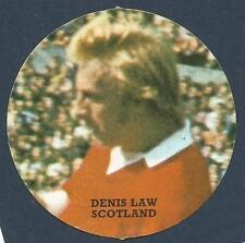 FKS 1972/73 CIRCULAR STICKER-  #S-SCOTLAND & MANCHESTER UNITED-DENIS LAW