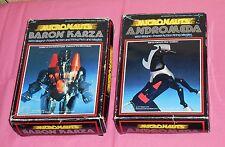 vintage Mego Micronauts BARON KARZA & ANDROMEDA IN BOX lot
