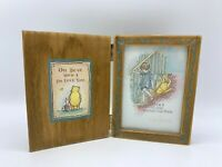 "Vtg Charpente Classic Winnie the Pooh Hinged Photo Frame 3 1/2"" x 5"" Wooden"