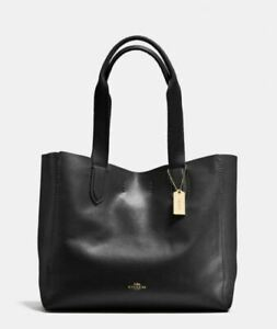 Coach Derby Tote, Black, New Factory Sealed, $298 Retail